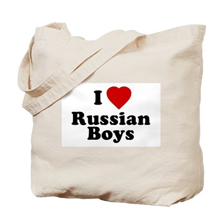 I Love Russian Boys Tote Bag