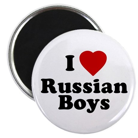 I Love Russian Boys Magnet