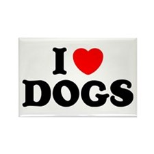 I Heart Dogs Rectangle Magnet