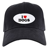 I Heart Dogs Baseball Cap