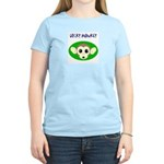 lucky monkey with 4 leaf Women's Pink T-Shirt