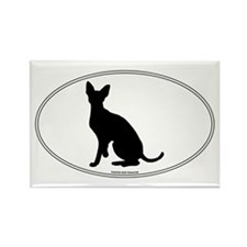 Cornish Rex Silhouette Rectangle Magnet