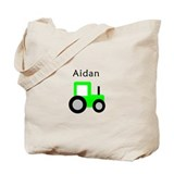 Aidan - Lime Tractor Tote Bag