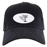 Black & White Martini Bachelo Baseball Hat
