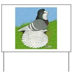Opal Trumpeter Pigeon Yard Sign