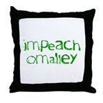 Impeach O'Malley Throw Pillow