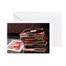 Record Stack<br>Greeting Card