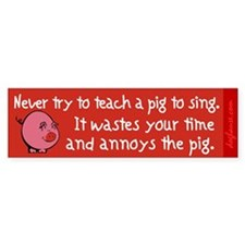 Singing Pig Bumper Bumper Sticker