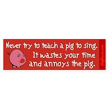 Singing Pig Bumper Bumper Sticker