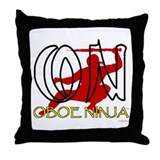 Oboe Ninja Throw Pillow