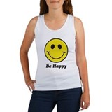 Smiley Face Women's Tank Top