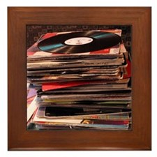 Record Stack<br> Framed Tile