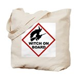 Witch on Board Tote Bag