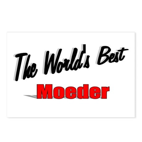 """The World's Best Moeder"" Postcards (Package of 8)"