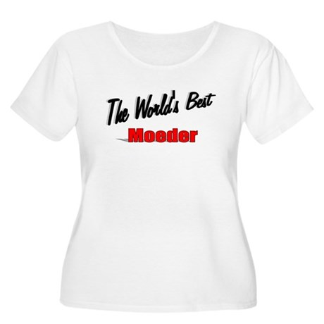 """The World's Best Moeder"" Women's Plus Size Scoop"