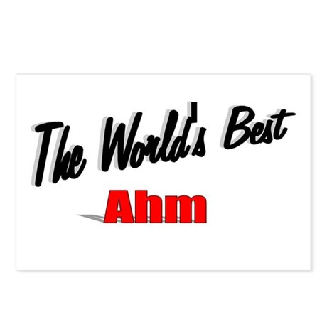 """The World's Best Ahm"" Postcards (Package of 8)"