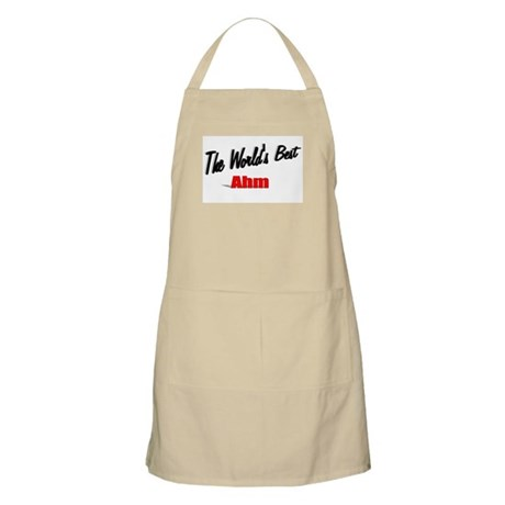 """The World's Best Ahm"" BBQ Apron"