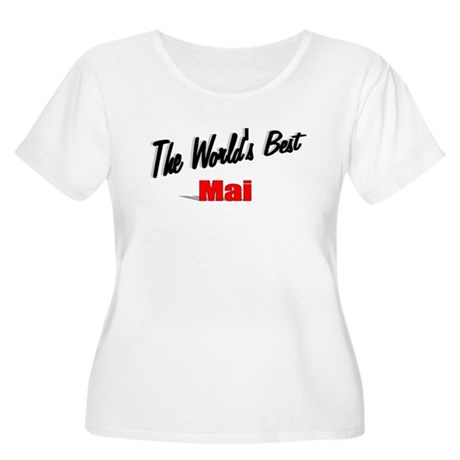 """The World's Best Mai"" Women's Plus Size Scoop Nec"