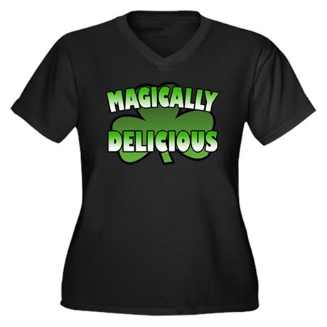 Magically Delicious Women's Plus Size V-Neck Dark