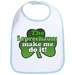 Leprechauns Make Me Do It Shamrock Bib