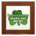 Leprechauns Make Me Do It Shamrock Framed Tile