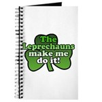 Leprechauns Make Me Do It Shamrock Journal