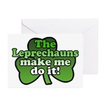 Leprechauns Make Me Do It Shamrock Greeting Cards