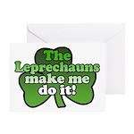 Leprechauns Make Me Do It Shamrock Greeting Card