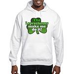 Leprechauns Make Me Do It Shamrock Hooded Sweatshi