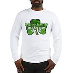 Leprechauns Make Me Do It Shamrock Long Sleeve T-S