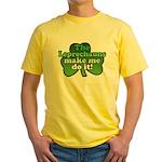 Leprechauns Make Me Do It Shamrock Yellow T-Shirt