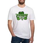 Leprechauns Make Me Do It Shamrock Fitted T-Shirt