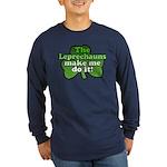 Leprechauns Make Me Do It Shamrock Long Sleeve Dar