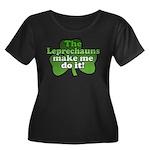 Leprechauns Make Me Do It Shamrock Women's Plus Si