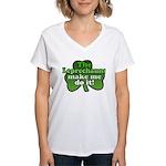 Leprechauns Make Me Do It Shamrock Women's V-Neck