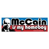 McCain is my Homeboy Bumper Bumper Sticker