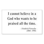 Nietzsche 5 Rectangle Sticker