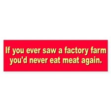 FACTORY FARM Bumper Bumper Sticker