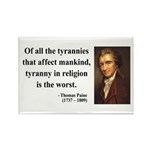 Thomas Paine 21 Rectangle Magnet (100 pack)