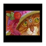 Pretty Girl Ginger CAT Tile Coaster
