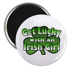 "Get Lucky with an Irish Girl 2.25"" Magnet (100 pac"