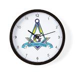 Masonic Faith, Hope, Charity Wall Clock