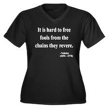 Voltaire 5 Women's Plus Size V-Neck Dark T-Shirt