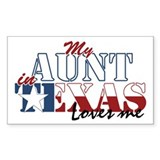 My Aunt in TX Rectangle Decal