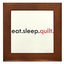 Eat Sleep Quilt Framed Tile