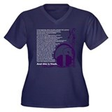 In the beginning... Women's Plus Size V-Neck Dark