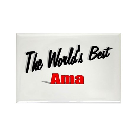 """The World's Best Ama"" Rectangle Magnet"