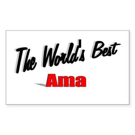 """The World's Best Ama"" Rectangle Sticker"