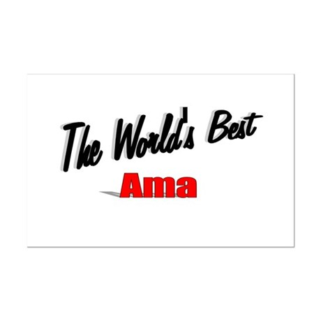 """The World's Best Ama"" Mini Poster Print"