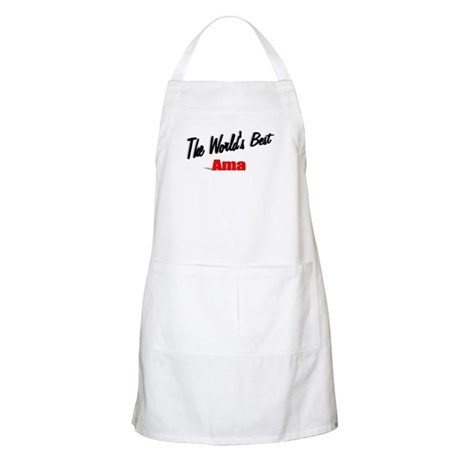 """The World's Best Ama"" BBQ Apron"